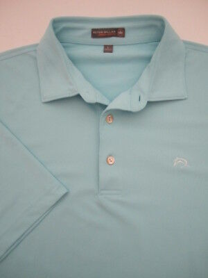 f26a5b021 GORGEOUS PETER MILLAR Solid Light Blue Summer Comfort Golf Polo ...
