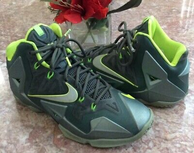 quality design df85f 2cc2c Nike LeBron XI Dunkman Men s Green Volt Basketball Shoes Size 9  616175-300  EUC