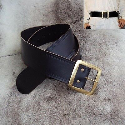 Wide Leather Pirates Belt For Re-Enactment Or LARP