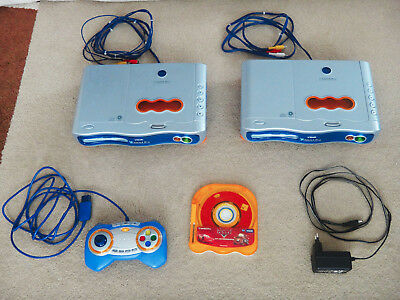 2x VTech Spielekonsole V.Smile PRO + 1 Controller + 1 Spiel CARS / Mc Queen + NT