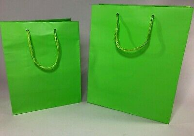 LUXURY BOUTIQUE LAMINATED MATT SILVER PAPER GIFT BAGS WITH ROPE HANDLES WEDDINGS