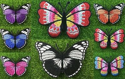Butterfly Sew Iron On Patch Embroidery Badge Embroidered Fabric Applique DIY