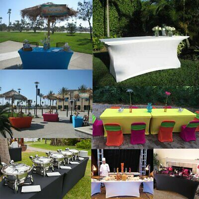 Table Skirts Cover Rectangle Tables 6ft For Party Decoration Wedding Reception