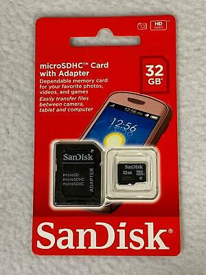 SanDisk SD 32GB Class 4 - MicroSDHC Card w/ Adapter - SDSDQ-032G-B35A      Z3238