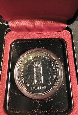 1977 Silver Jubilee Canadian Dollar - Throne Of The Senate 50% Silver Coin