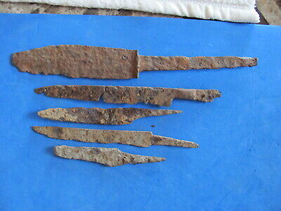 SCARCE Lot (5)  ANCIENT Roman - Medieval Iron Knives