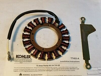 54 755 09 KOHLER COMMAND ALTERNATOR STATOR NEW Genuine OEM part! 237878-S