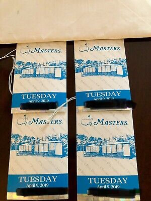 4 2019 Masters practice round tickets Tuesday April 9