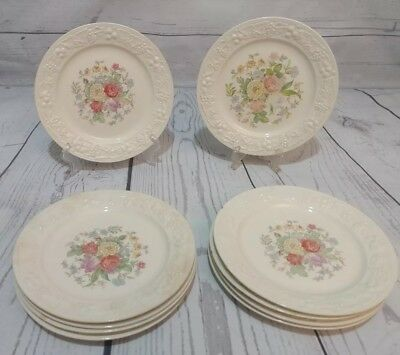 "10 Homer Laughlin Eggshell Theme Vintage China 6 1/8"" Bread & Butter Plates G 39"