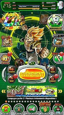 Compte Dokkan Battle Global 9 LR / 6 Neo LR Payants, 250+ DS - Android