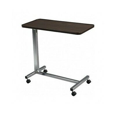 Hospital Bed Table Over Bedside Tray Medical Non Tilt Adjustable Rolling Stand