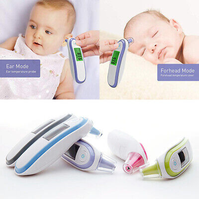 FDA Digital Infrared Forehead Ear Thermometer Kids Adult Fever Temperature Meter