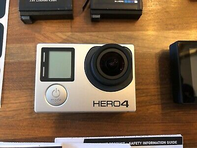 GoPro HERO4 Black Action Camera Black Barely Used Bundle LCD