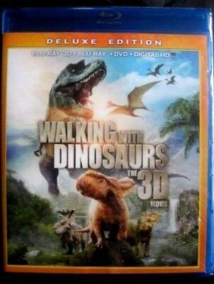 Walking With Dinosaurs Deluxe Edition Blu-ray 3D Disc, DVD & Digital*NEW-SEALED*