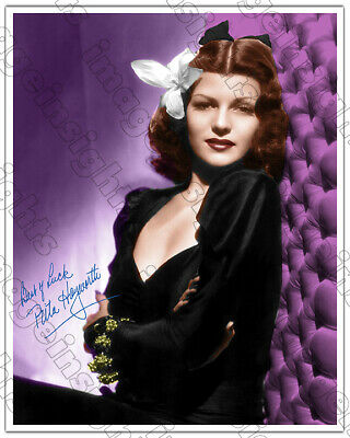 RITA HAYWORTH 8x10 Screen Legend Actress, Dancer Beauty Color Autograph RP