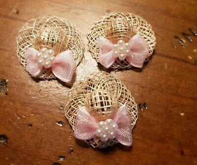 Miniature dolls house accessories Ladies Straw Hats 1:12th scale miniature size