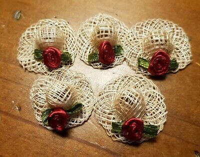 Miniature dolls house accessories Ladies Straw Hats1:12th scale miniature size