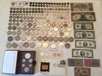 US Coin/Paper Money Lot: Gold, Silver - Rare Key Dates, CC-Morgan $