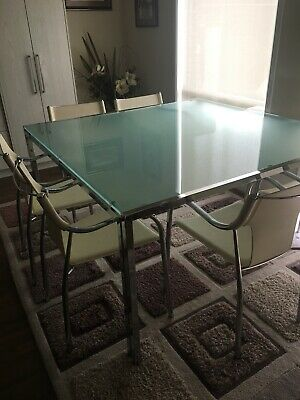 Nick Scali Glass Dining Table Size 1500 X With 8 White Leather Chairs