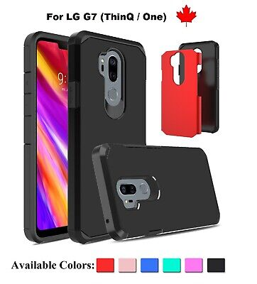 For LG G7 (ThinQ / One) Slim Armor Hybrid Rubber Shockproof hard TPU Case Cover
