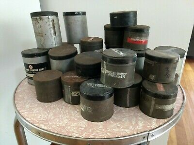 Industrial Vintage Retro Tin Tins Containers Storage Garage Shed Metal Art