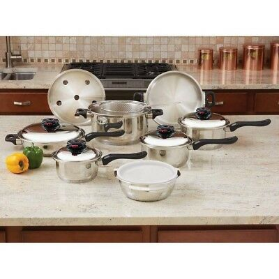 Chef's Secret® 15pc 12-Element T304 Stainless Steel Cookware Waterless