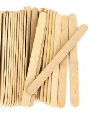 Craft Icypole Sticks - Natural - 100 Pieces - New & Sealed