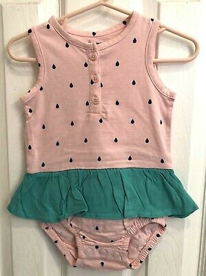 41a98a61d6bf BABY GIRL CARTER S Fruit Shirred Romper Size 9M NWT -  7.99