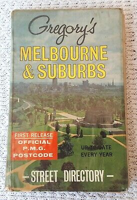 Old Gregory's 2nd Edition Melbourne Street Directory – Maps, Ampol, Auto, Advert