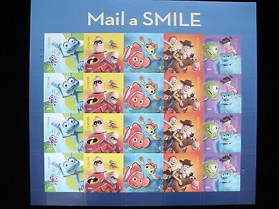 U.S. Postage Stamps - 2012 Mail A Smile Stamp Sheetlet