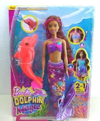 Barbie Dolphin Magic Transforming Mermaid Doll  Dolphin Squirts Water