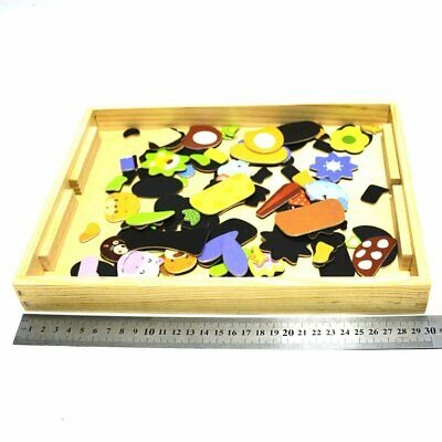 Early Educational Kids Toys Wooden Magnetic Drawing Board Jigsaw Puzzle To Ep