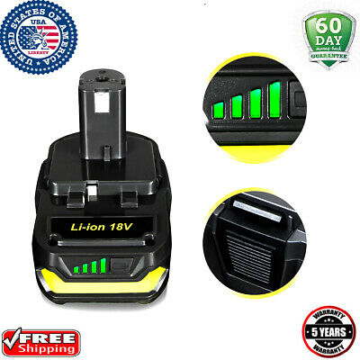 18V For Ryobi One+ P102 18 Volt Lithium Ion Compact Battery Pack P108 P104 P107