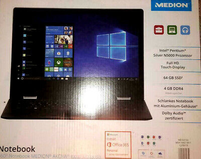 """Medion e3222 4 in 1  360° Notebook  13,3"""" Full HD Touch-Display 4 GB RAM USB 3.1"""