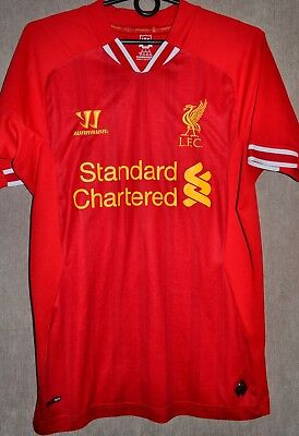 c173b42a67209 Liverpool FC 2013-2014 Home T-shirt Jersey Warrior Camiseta Size S Kit