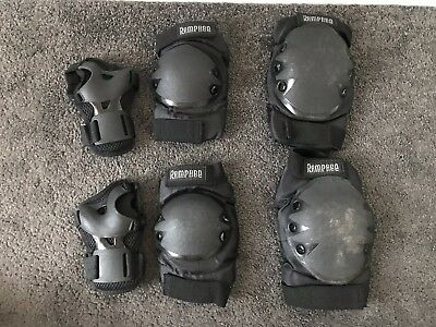 Rampage Inline Black Knee, Elbow And Wrist Protection Pads- Good Condition