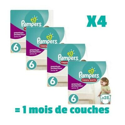 PAMPERS ACTIVE FIT PANTS Taille 6 - 112 couches - Pack 1 mois