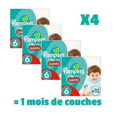 PAMPERS BABY DRY PANTS Taille 6 - 128 couches - Pack 1 mois