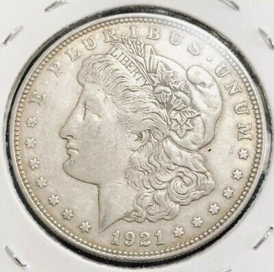 1921 D USA Morgan Silver Dollar Coin.