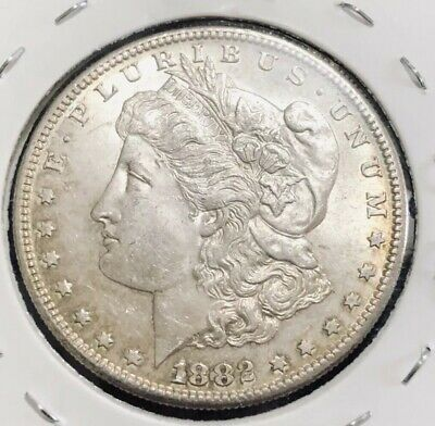1882 S USA Morgan Silver Dollar Coin. UNCIRCULATED