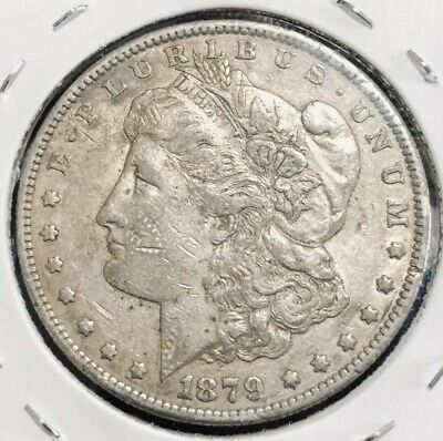 1879 S USA Morgan Silver Dollar Coin.
