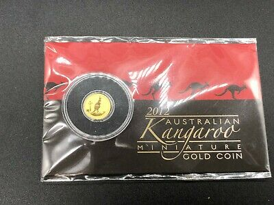 2012 AUSTRALIAN KANGAROO $2 0.5g GOLD COIN - THE PERTH MINT - CARDED