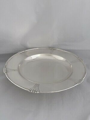 Large Solid Silver Art Deco Pedestal Dish 1938 Sheffield MAPPIN & WEBB