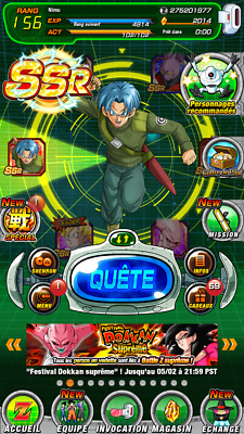 🌟 Android - Dokkan Battle GLO 🌟2014+ DS with 2 LR ! (Gohan LR and Trunks LR)