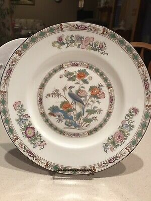 Wedgwood  Kutani Crane Bone China Set Of 8 Dinner Plates England