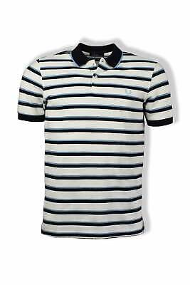 956fc8652 FRED PERRY FINE Stripe Knitted Polo Shirt (Deep Carbon) -  64.99 ...