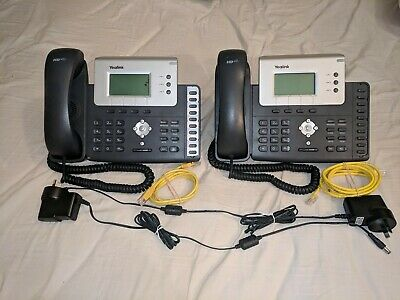 2 x Yealink SIP T26P IP Phone in Black