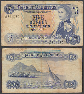 1967 QEII BANK Of Mauritius 50 Rupees Note *scarce Piece