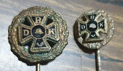 German Nazi Era WW1 VETERANS ASSOCIATION BRONZE & SILVER  STICK PIN