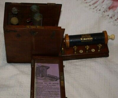 Rare W Mather London & Manchester  Improved Induction Coil & Battery for medical
